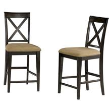 Product Image - Lexi Pub Chairs Set of 2 with Cappuccino Cushion in Espresso