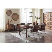 Modern Living Dining With 4 Wyatt Dining Chairs