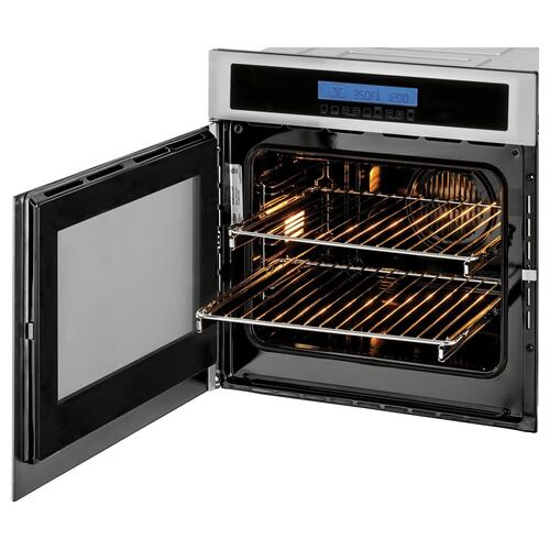 "24"" Single 2.0 Cu. Ft. Left-Swing True European Convection Oven"