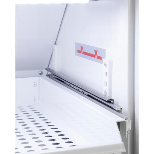 Performance Series Pharma-vac 12 CU.FT. Upright Glass Door Commercial All-refrigerator for the Display and Refrigeration of Vaccines With Six Ventilated Removable Drawers