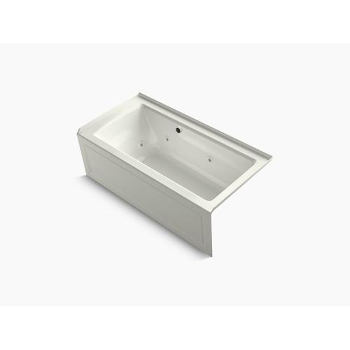 """Dune 60"""" X 30"""" Alcove Whirlpool Bath With Bask Heated Surface, Integral Apron, Integral Flange, and Right-hand Drain"""