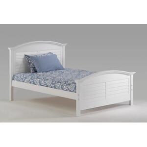Night and Day Furniture - Sandpiper Bed in White Finish