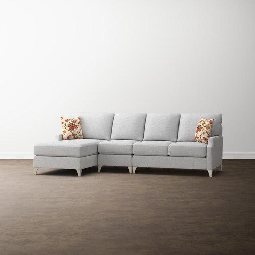 Custom Upholstery Left Chaise Sectional