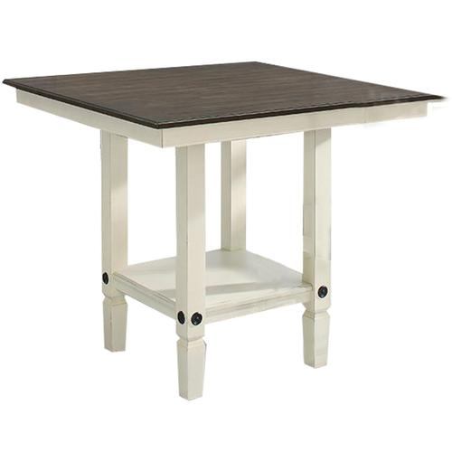 See Details - Glennwood Counter Table  White & Charcoal