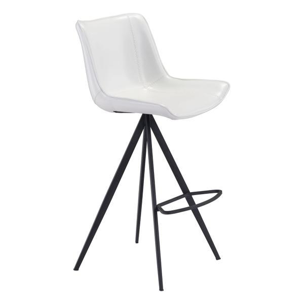 See Details - Aki Bar Chair White & Black