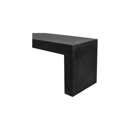 Moe's Home Collection - Lazarus Outdoor Bench Black