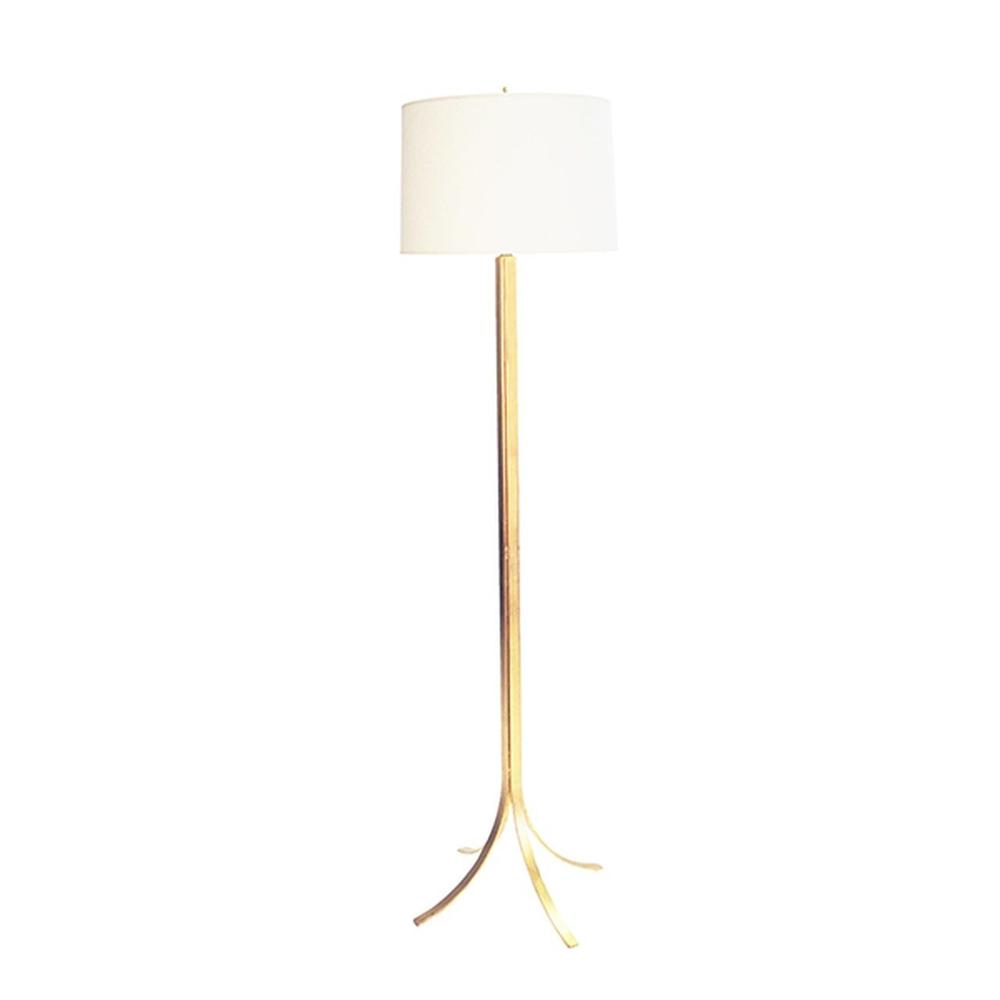 So Chic and So Stately, the Dempsey Modern Floor Lamp Will Be A Staple In Your Style Archive. A Feather Light Foot Detail Flares From the Iron Base and A Hand Applied Gold Leaf Finish Completes the Look.