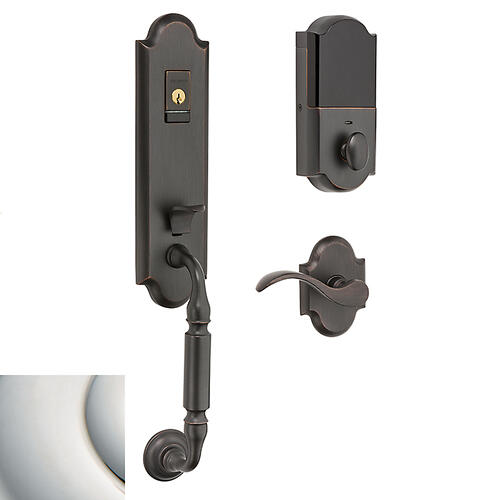 Baldwin - Polished Nickel with Lifetime Finish Evolved Manchester Handleset