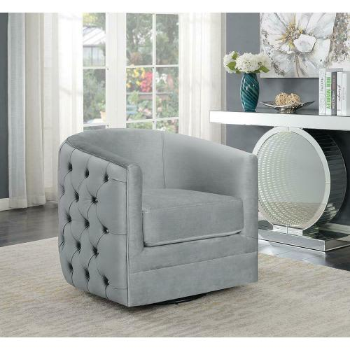 Modern Grey Swivel Accent Chair