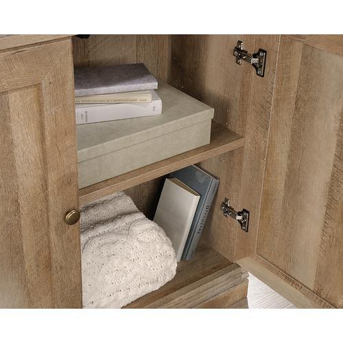 Sauder - Farmhouse Style 5-Shelf Bookcase with Doors