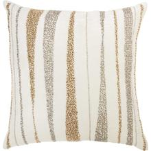 "Luminescence E1057 Ivory 18"" X 18"" Throw Pillow"