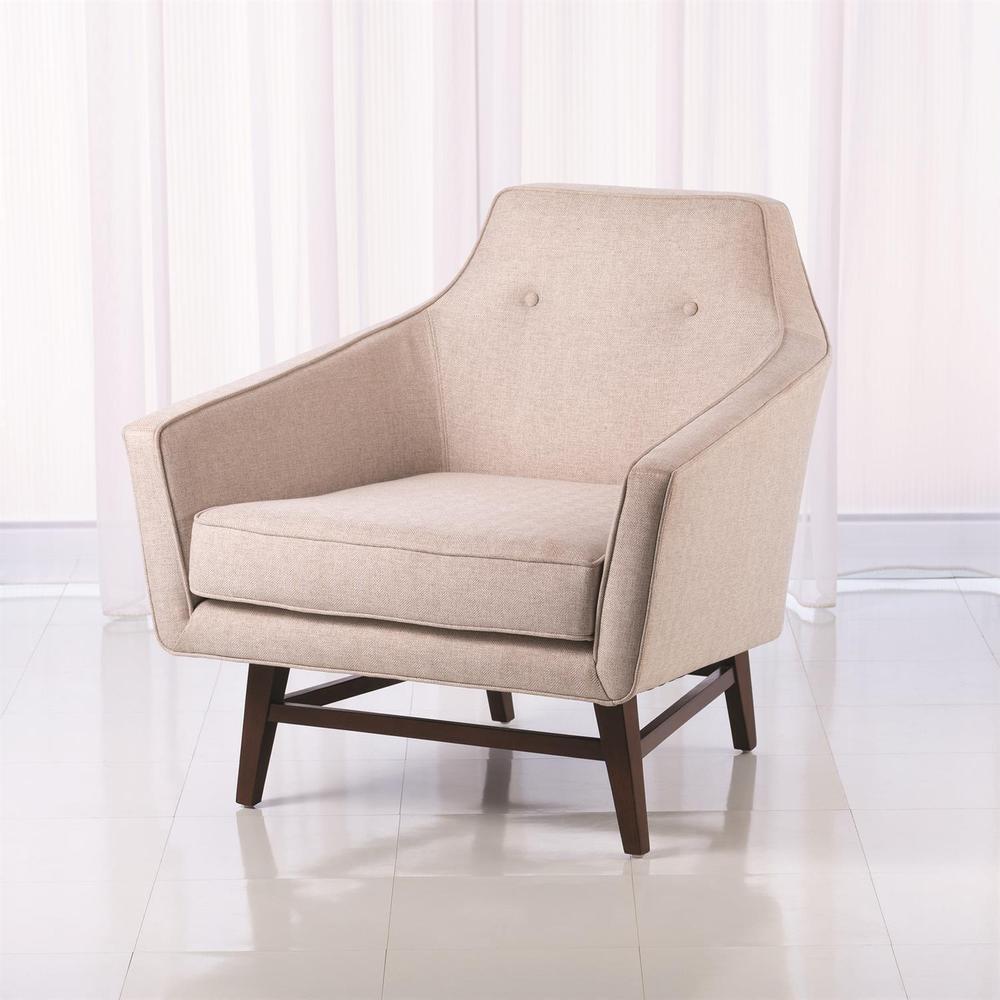 See Details - Edward Lounge Chair-Muslin