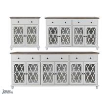 Aurora Hills 4 Door Accent Chest-b. White/bisque