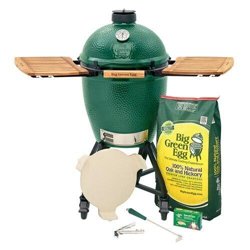 Big Green Egg - Large EGG in an intEGGrated Nest+Handler with Mates Package