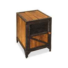 See Details - Accent Table/Nightstand - Tawny/Black Metal Finish