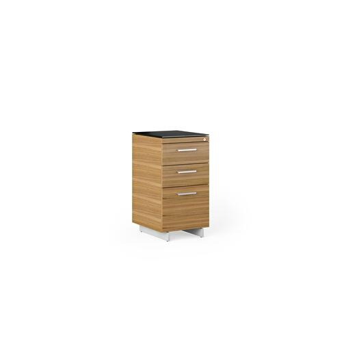 BDI Furniture - Sequel 20 6114 3 Drawer File Cabinet in Walnut Satin Nickel
