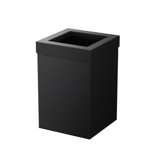 Square Modern Waste Basket in Matte Black