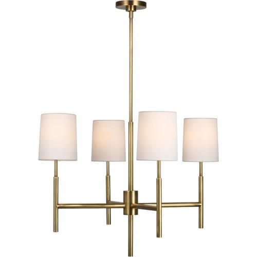 Visual Comfort - Barbara Barry Clarion LED 28 inch Soft Brass Chandelier Ceiling Light, Small