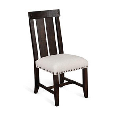 Chair w/ Cushion seat & Dbl. Slatback