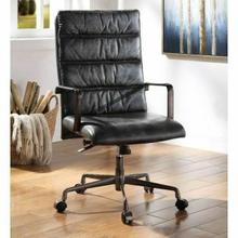 ACME Jairo Office Chair - 92565 - Vintage Black Top Grain Leather