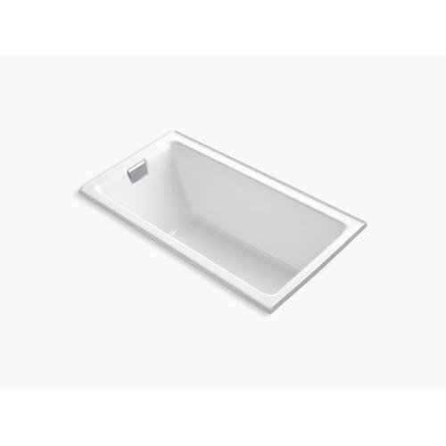 "Biscuit 66"" X 36"" Alcove Bath With Integral Flange and Left-hand Drain"
