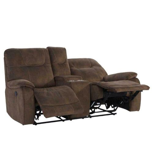 Parker House - COOPER - SHADOW BROWN Manual Console Loveseat