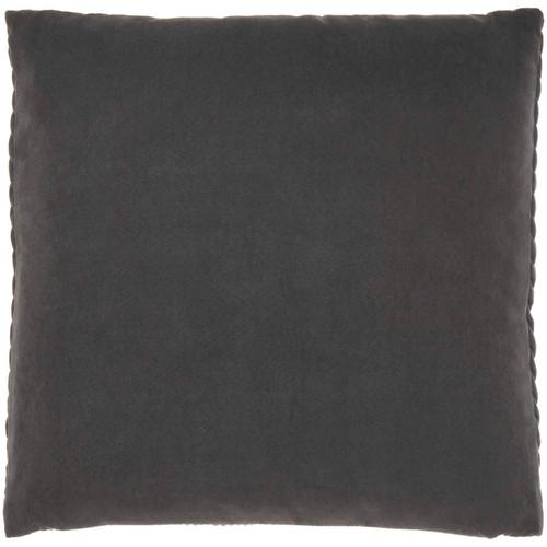 """Life Styles Et299 Charcoal 22"""" X 22"""" Throw Pillow"""