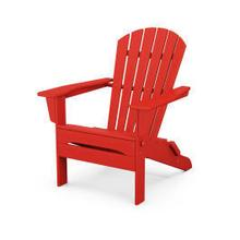 View Product - South Beach Folding Adirondack Chair in Sunset Red