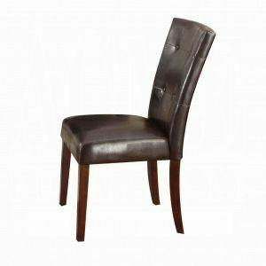 ACME Danville Side Chair (Set-2) - 07054 - Espresso PU & Walnut