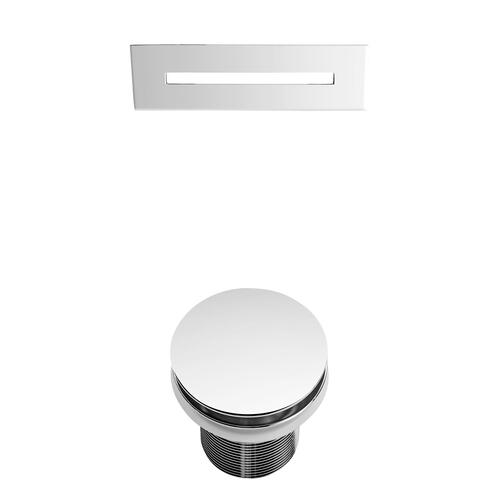 """Raelene 65"""" Acrylic Tub with Integral Drain and Overflow - Polished Chrome Drain and Overflow"""