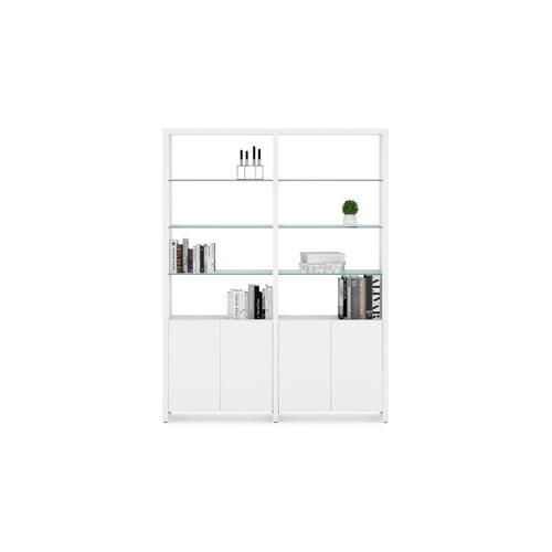 BDI Furniture - Linea 5802 Double Shelf in Smooth Satin White