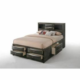 ACME Ireland Full Bed w/Storage - 22710F - Gray Oak