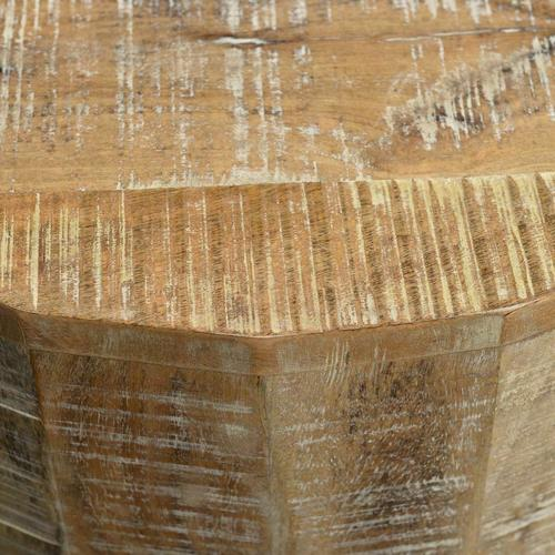 Worldwide Homefurnishings - Eva Accent Table in Distressed Natural