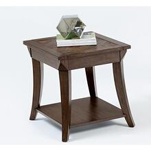 Rectangular End Table - Dark Poplar Finish