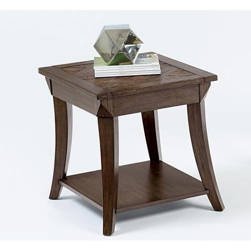 Rectangular End Table - Dark Poplar Finish