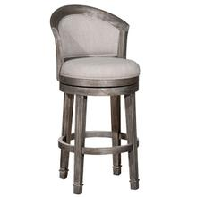 Monae Swivel Bar Height Stool, Distressed Dark Gray