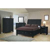 Sandy Beach Black Queen Five-piece Bedroom Set Product Image