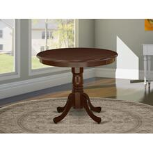 """Antique Table 36"""" Round with Mahogany Finish"""