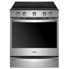 See Details - 6.4 cu. ft. Smart Slide-in Electric Range with Scan-to-Cook Technology Fingerprint Resistant Stainless Steel