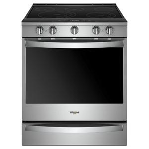 Whirlpool6.4 cu. ft. Smart Slide-in Electric Range with Scan-to-Cook Technology Fingerprint Resistant Stainless Steel