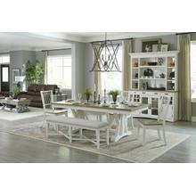 See Details - AMERICANA MODERN DINING Dining Table 88 in. x 42 in. Trestle to 112 in. (24 in. Butterfly Leaf)
