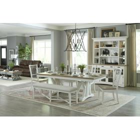 AMERICANA MODERN DINING Dining Table 88 in. x 42 in. Trestle to 112 in. (24 in. Butterfly Leaf)
