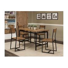 Adler 5pc Oak/blk Dining Set
