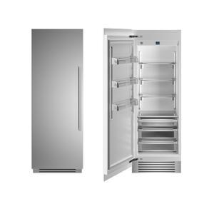 "Bertazzoni30"" Built-in Refrigerator column - Stainless - Left hinge"