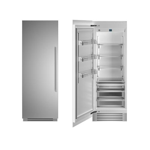 "30"" Built-in Refrigerator column - Stainless - Left hinge"
