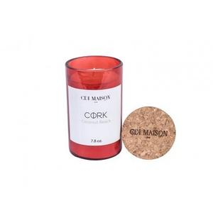 Red Cork Top Candle - Coconut Beach