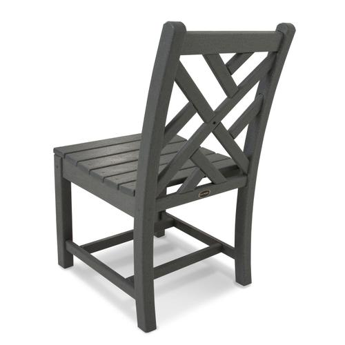 Slate Grey Chippendale Dining Side Chair