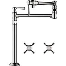 Chrome Pot Filler, Deck-Mounted