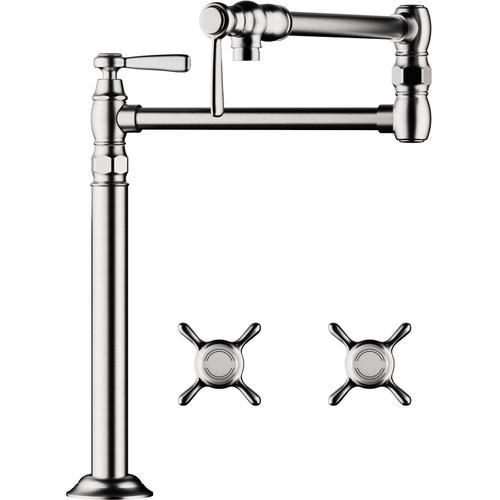 Chrome Pot Filler, Deck-Mounted