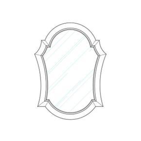Thoroughbred Diva Portrait Mirror - Toast
